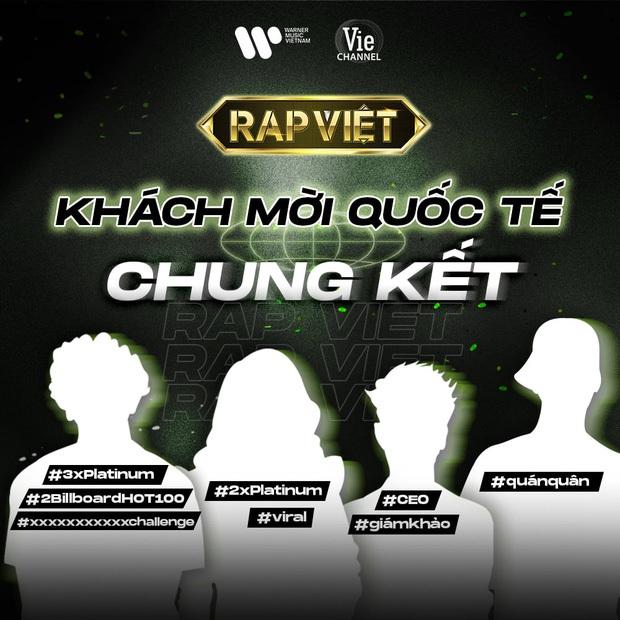 Lộ danh tính khớp đến 99% của 4 khách mời quốc tế đêm Chung kết Rap Việt? - Ảnh 1.