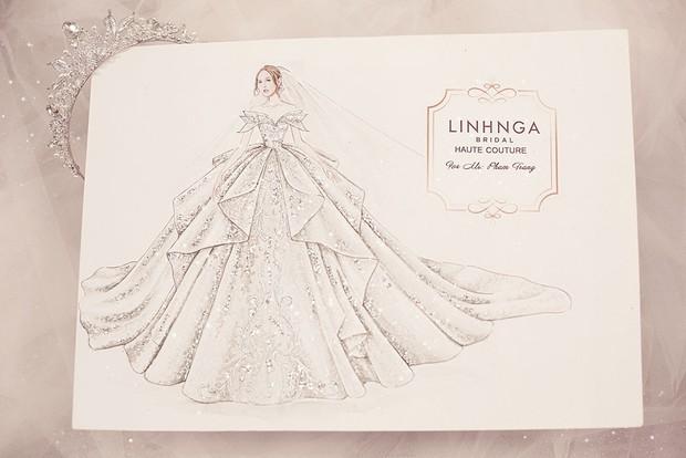 Cận cảnh loạt váy cưới, trong đó có chiếc 28 tỷ đính 6 viên kim cương của Xoài Non - vợ streamer giàu nhất VN - Ảnh 11.