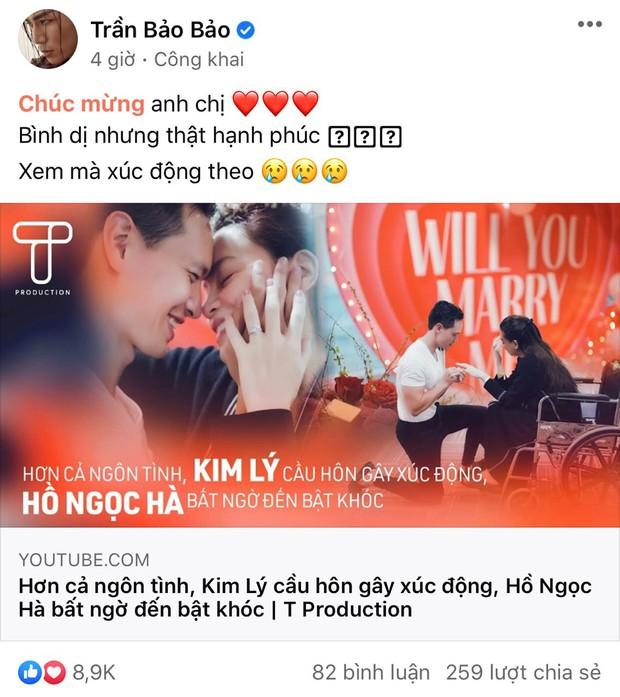 Cả Vbiz rần rần vì clip của Hà Hồ - Kim Lý: Hari Won nhắc đến màn cầu hôn trăm triệu năm xưa, Đông Nhi - Trương Quỳnh Anh vỡ oà - Ảnh 4.