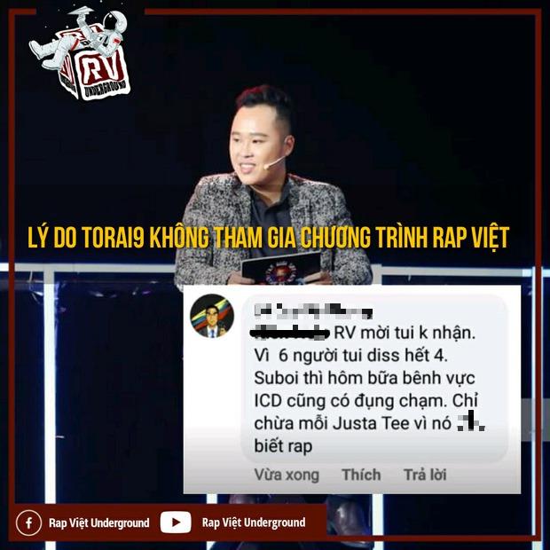 Torai9 giữ đúng lời hứa tung bản diss cả Rhymastic và JustaTee ngay sau Chung kết Rap Việt - Ảnh 2.