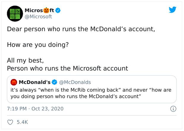 Microsoft, Facebook, Messenger... cùng nhau troll McDonalds trên Twitter, cư dân mạng được dịp hả hê, cười đau cả bụng! - Ảnh 2.