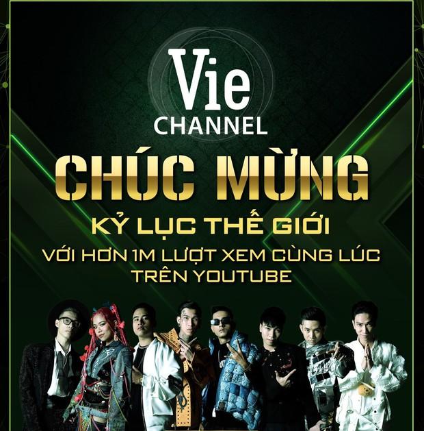 Rap Việt lập kỷ lục thế giới với hơn 1 triệu lượt xem cùng lúc trên YouTube cho đêm công bố Quán quân - Ảnh 1.
