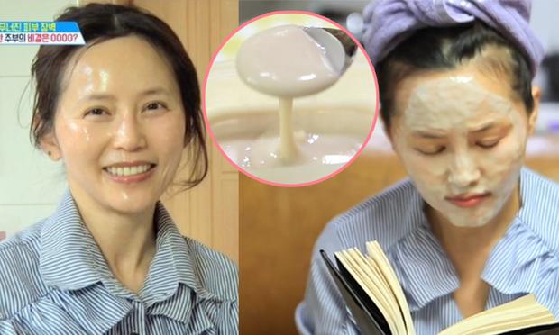 Người phụ nữ Hàn đã 53 tuổi mà da vẫn căng bóng không 1 nếp nhăn nhờ chăm đắp mặt nạ da lợn - Ảnh 1.
