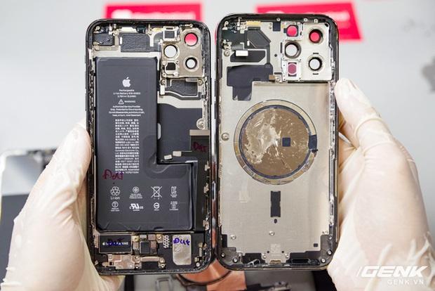 Mổ bụng iPhone 12 Pro Max tại Việt Nam: pin chữ L dung lượng 3.687mAh, camera sau vừa to vừa dài - Ảnh 24.