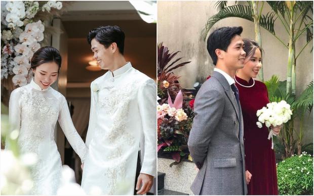 So ảnh Viên Minh - vợ Công Phượng trong đám hỏi và lễ rước dâu: Thay đổi màu áo nhưng thần thái vẫn miễn chê - Ảnh 1.