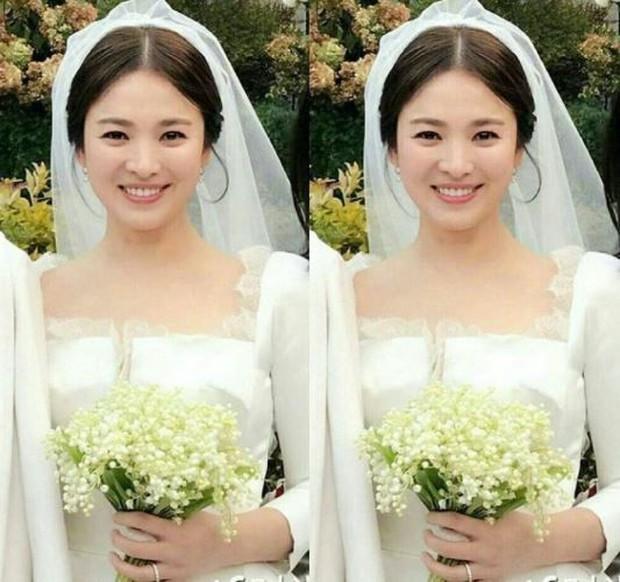 Vợ Công Phượng mặc váy cưới trơn nhẹ nhàng, cầm hoa cưới đắt đỏ khiến ai cũng liên tưởng ngay tới Song Hye Kyo - Ảnh 6.