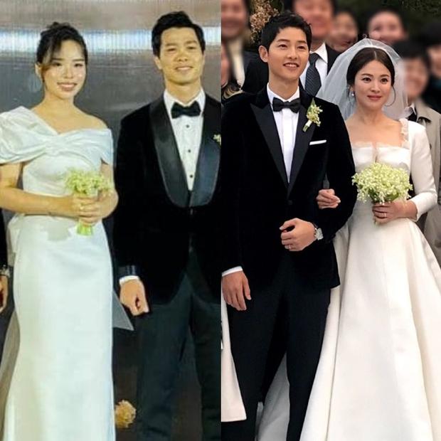 Vợ Công Phượng mặc váy cưới trơn nhẹ nhàng, cầm hoa cưới đắt đỏ khiến ai cũng liên tưởng ngay tới Song Hye Kyo - Ảnh 5.