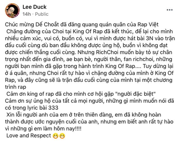 Giữa tranh cãi ngôi vị Quán quân King Of Rap của ICD, Karik đăng ảnh rồi chốt một câu cực súc tích - Ảnh 9.
