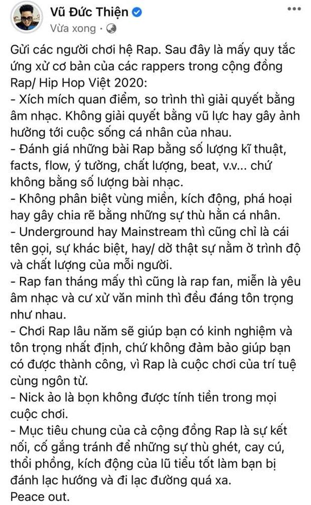 Rhymastic đề ra quy tắc ứng xử cho cộng đồng rap sau khi Torai9 nhận thua trận beef vì bị ảnh hưởng kinh doanh - Ảnh 1.