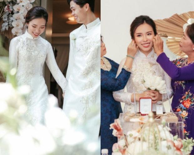 Cứ nói mãi về váy cưới của Viên Minh mà không biết loạt kiểu tóc giúp cô che nhược điểm, chạm đỉnh cao nhan sắc thì thật phí! - Ảnh 2.