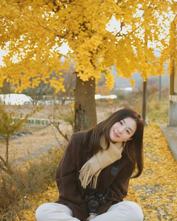 Seulgi (Red Velvet) thu về triệu tim chỉ nhờ bộ ảnh lá vàng mùa Thu, netizen tưởng hình tạp chí nhưng sự thật lại gây ngỡ ngàng - Ảnh 2.