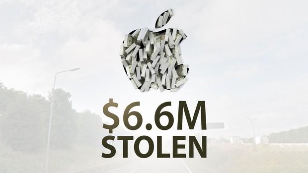 Cứ ngỡ Phi vụ triệu đô chỉ có trên Netflix, ai ngờ xe chở hàng của Apple cũng bị cướp với thiệt hại lến đến 6 triệu USD - Ảnh 1.
