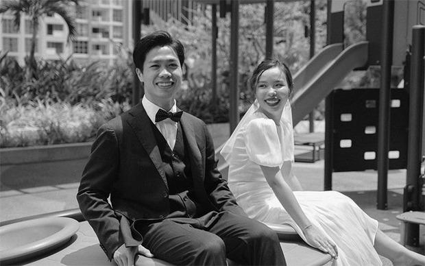 Cô dâu của Công Phượng diện váy cưới chỉ hơn 2 triệu, đụng hàng ngay với siêu mẫu bỉm sữa Lan Khuê - Ảnh 1.