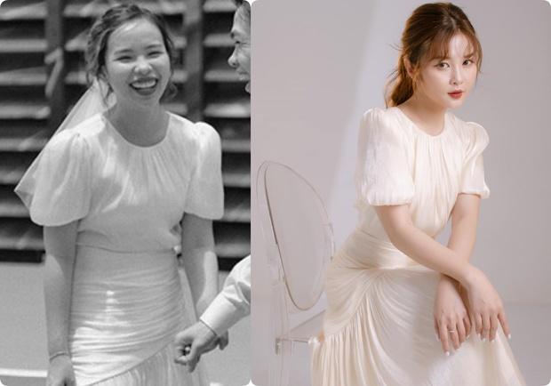Cô dâu của Công Phượng diện váy cưới chỉ hơn 2 triệu, đụng hàng ngay với siêu mẫu bỉm sữa Lan Khuê - Ảnh 3.