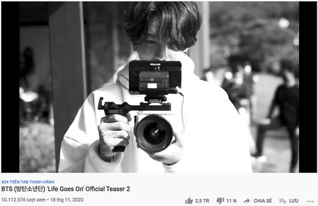 Lượt xem 24h teaser Life Goes On thua xa Dynamite, BTS đang tự làm khó mình trong công cuộc phá vỡ kỷ lục? - Ảnh 3.