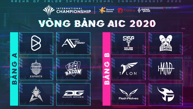 Lịch thi đấu chính thức AIC 2020: Quá nhiều trận đấu hấp dẫn ngay từ vòng bảng, chờ xem bản lĩnh Saigon Phantom và Team Flash! - Ảnh 1.