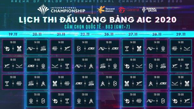 Lịch thi đấu chính thức AIC 2020: Quá nhiều trận đấu hấp dẫn ngay từ vòng bảng, chờ xem bản lĩnh Saigon Phantom và Team Flash! - Ảnh 2.