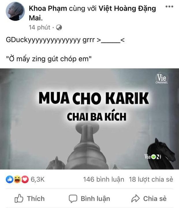 Karik hờn dỗi học trò GDucky vì lyrics oái oăm nhưng vẫn không quên viết thêm câu nói viral cà khịa Binz - Ảnh 2.