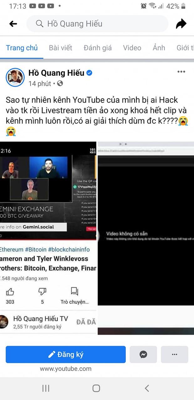 Nhiều kênh YouTube triệu sub của Hồ Quang Hiếu, Vũ Khắc Tiệp, Lynk Lee... bị hack, nhưng nạn nhân lại có phản ứng cực kỳ hài hước! - Ảnh 1.