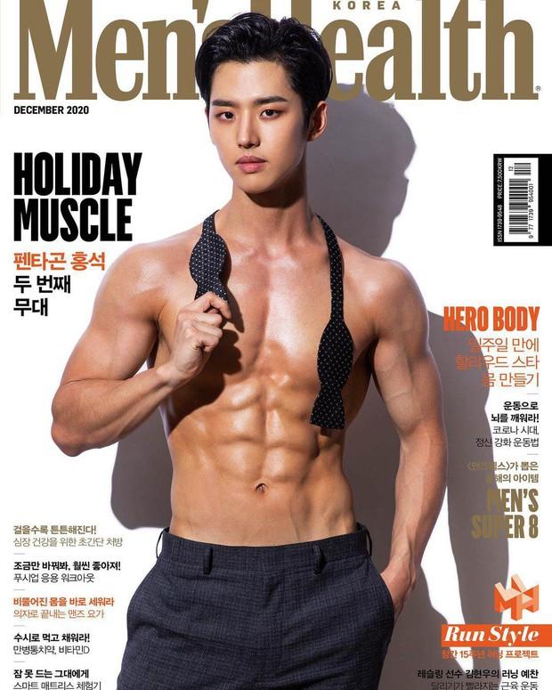 """Mỹ nam Kpop khoe múi bụng cuồn cuộn """"thấy sợ"""" trên tạp chí, tưởng PTS cho đến khi kéo đến ảnh hậu trường nóng bỏng - Ảnh 2."""