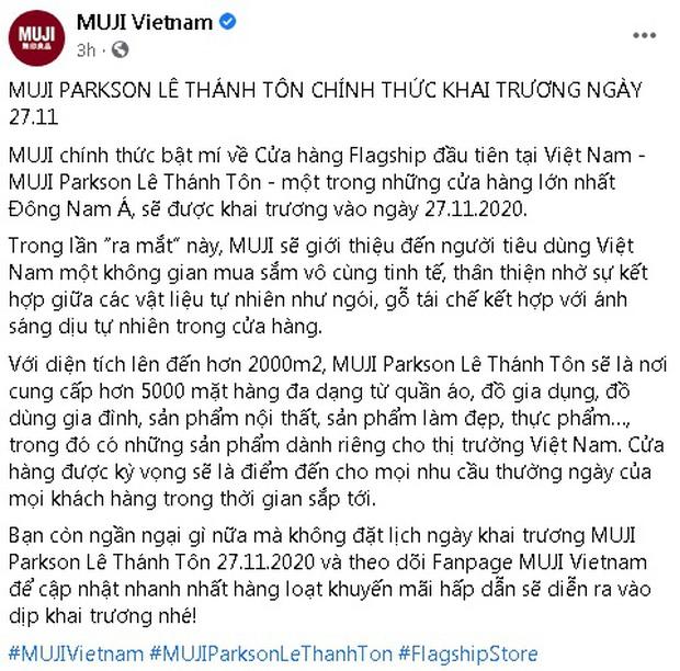 MUJI khai trương cửa hàng flagship đầu tiên tại Việt Nam vào đúng Black Friday 27/11 - Ảnh 1.