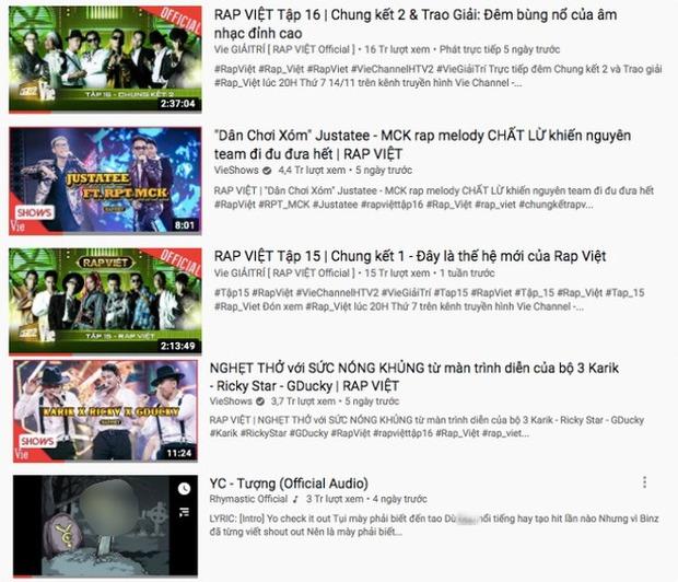 Rhymastic nhăm nhe soán ngôi ông hoàng trending của Trấn Thành hay gì, cùng lúc chiếm cả 5 vị trí trên top trending YouTube - Ảnh 2.