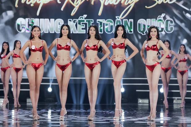 Bỏng mắt ngắm Top 22 Hoa hậu Việt Nam trình diễn bikini: Body đỉnh cao, bạn gái Đoàn Văn Hậu sáng bừng khung hình - Ảnh 11.