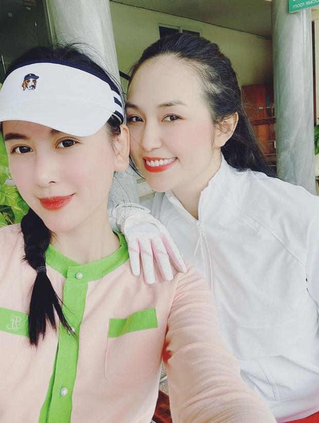 Hà Lade và vợ Tuấn Hưng đụng độ trên sân golf: Ai chơi giỏi hơn chưa biết nhưng đều xinh rồi đó - Ảnh 1.