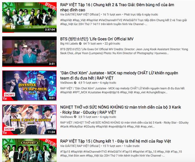 Rhymastic nhăm nhe soán ngôi ông hoàng trending của Trấn Thành hay gì, cùng lúc chiếm cả 5 vị trí trên top trending YouTube - Ảnh 13.