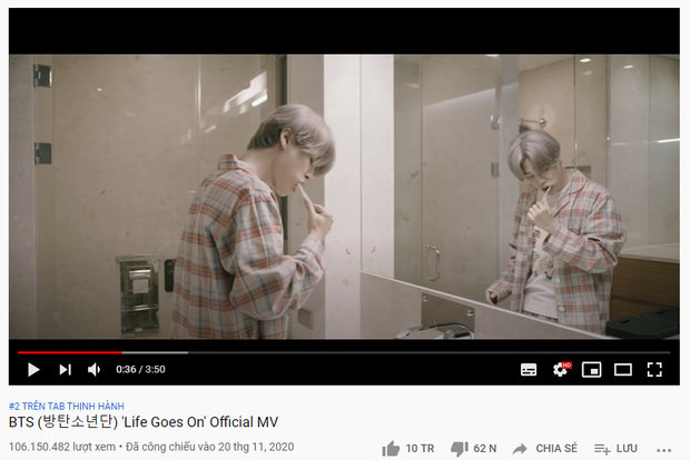 MV Life Goes On của BTS chính thức cán mốc 100 triệu view: tốc độ chỉ bằng một nửa Dynamite và thua xa BLACKPINK! - Ảnh 1.