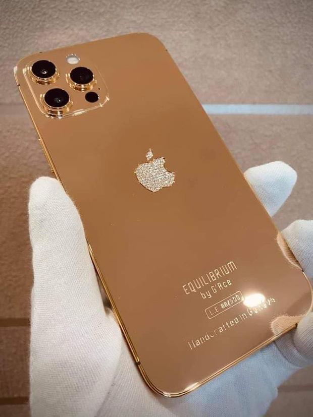 Đẳng cấp của sự chanh sả, mê mẩn chiếc iPhone 12 Pro Max được nạm vàng 18K và kim cương cực ấn tượng - Ảnh 2.
