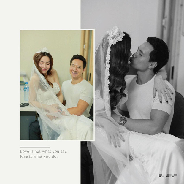 Lộ hậu trường ảnh cưới của Hà Hồ - Kim Lý: Cô dâu trao cho chồng nụ hôn nồng thắm, nhìn đã thấy hạnh phúc lây! - Ảnh 3.