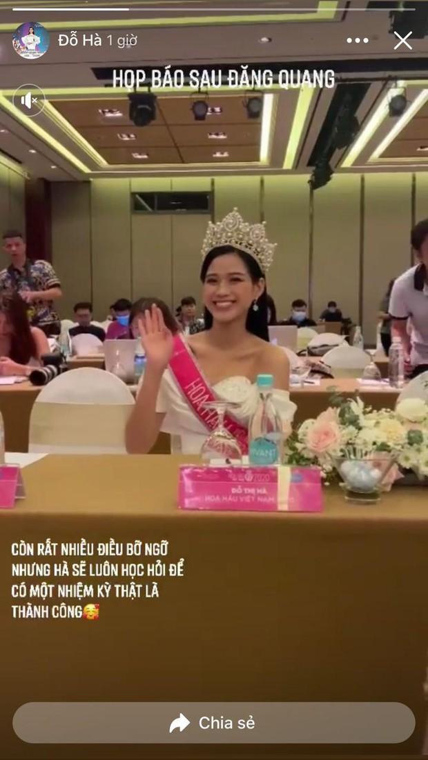 Liên tục bị soi quá khứ hậu đăng quang, tân Hoa hậu Đỗ Thị Hà có động thái rõ ràng trên MXH - Ảnh 3.