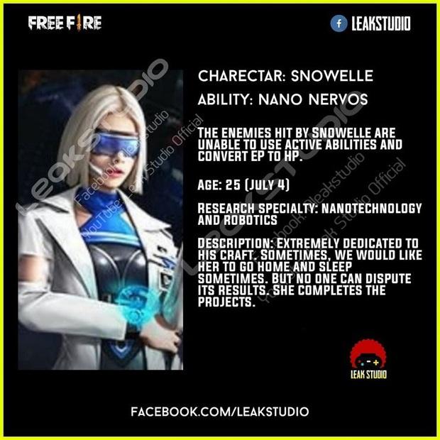 Free Fire: Hé lộ nhân vật mới với kỹ năng siêu bá đạo, hứa hẹn cho Alok ra rìa - Ảnh 1.