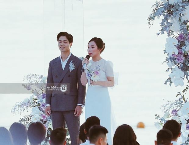 Khoảnh khắc ăn tiền nhất đám cưới Công Phượng - Viên Minh: Đáng đạt điểm tuyệt đối vì quá rực rỡ, hạnh phúc và tinh tế - Ảnh 3.