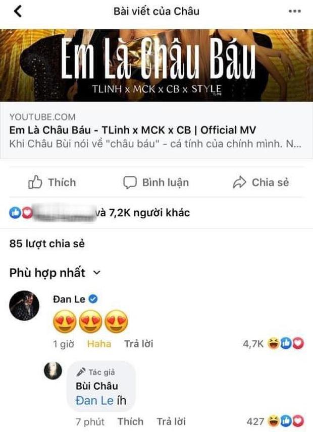 Lần đầu tiên Binz vào Facebook Châu Bùi bình luận thương thương, nàng liền có động thái đáp lại ngay và luôn - Ảnh 2.