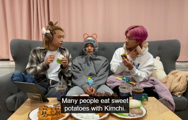 Hendery (NCT) sốc khi biết người Hàn ăn khoai lang với kim chi, còn bị thành viên cùng nhóm dụ ăn thử cực nhiệt tình - Ảnh 2.