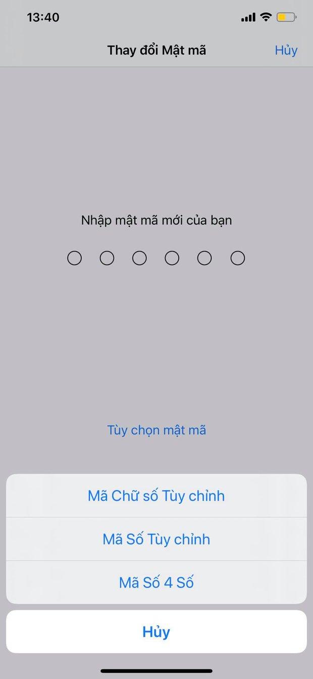 Mẹo hay giúp tùy ý thay đổi mật khẩu 4 số, 6 số hoặc cả chữ và số trên iPhone - Ảnh 4.
