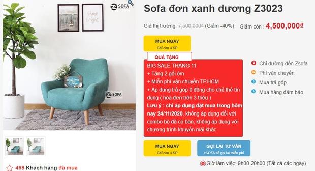 """Nhiều mẫu sofa đang sale """"đậm sâu"""" tới 50% cực đáng sắm - Ảnh 1."""