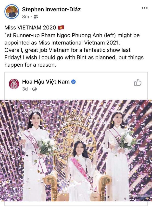 HOT: Á hậu 1 Phương Anh vừa đăng quang đã dẫn đầu BXH của fan sắc đẹp quốc tế, Giám đốc truyền thông Miss International khen tới tấp! - Ảnh 3.