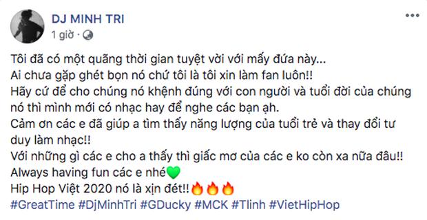 DJ sành sỏi trong nghề chia sẻ về GDucky - MCK - Tlinh: Hãy để cho chúng nó khệnh đúng với con người và tuổi đời - Ảnh 2.