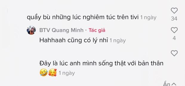 BTV Quang Minh khiến các cháu xỉu ngang vì chơi TikTok quá dữ, đối lập chan chát với lúc lên sóng VTV - Ảnh 5.