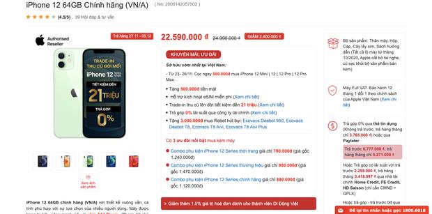 Chi tiết bảng giá iPhone 12 chính hãng tại các đại lý uỷ quyền trước ngày mở bán - Ảnh 4.