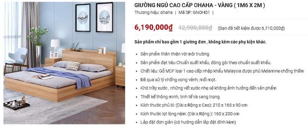 7 mẫu giường ngủ đang được sale mạnh đến 50%, tiết kiệm ngay bạc triệu - Ảnh 3.
