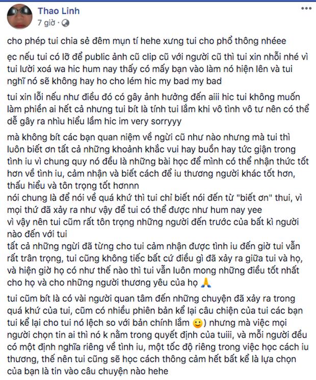 1h sáng Tlinh tung demo hát 100%, tâm sự dài về tình yêu khi tấm ảnh với người cũ bất ngờ trồi lên Facebook - Ảnh 1.
