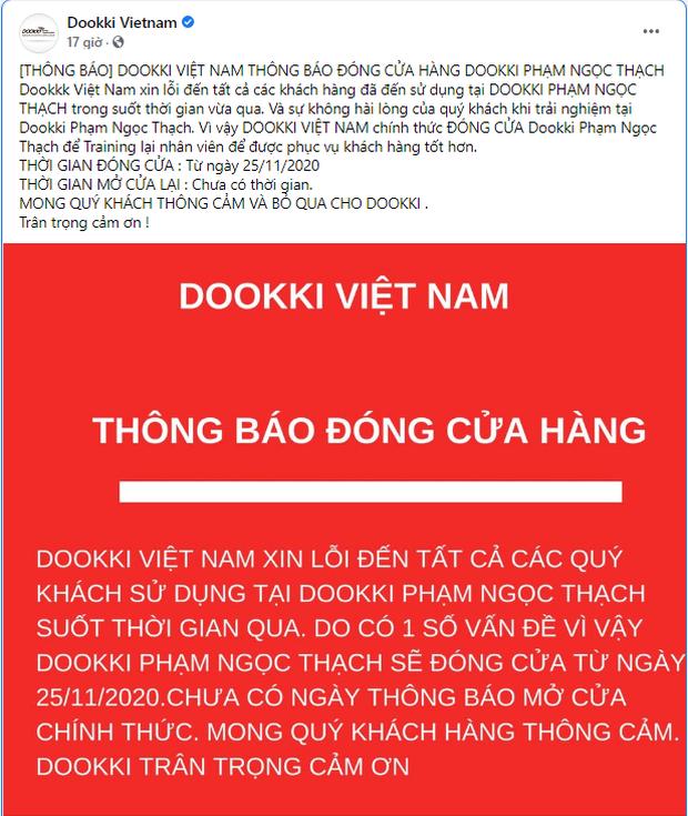 Bị tố vì thái độ đuổi khách của nhân viên, chuỗi nhà hàng lẩu buffet Dookki thông báo đóng cửa chi nhánh Phạm Ngọc Thạch - Ảnh 1.
