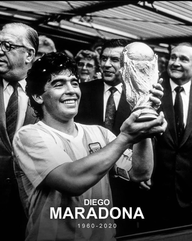 Mạng xã hội tràn ngập hashtag thương tiếc danh thủ người Argentina - Diego Maradona - Ảnh 1.