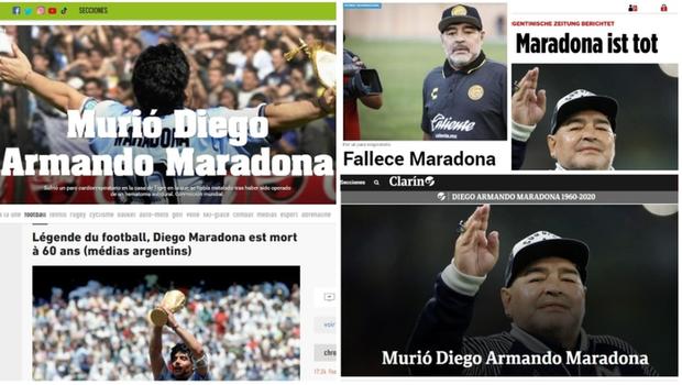 Truyền thông thế giới sốc nặng, bàng hoàng trước sự ra đi đột ngột của huyền thoại Diego Maradona - Ảnh 2.