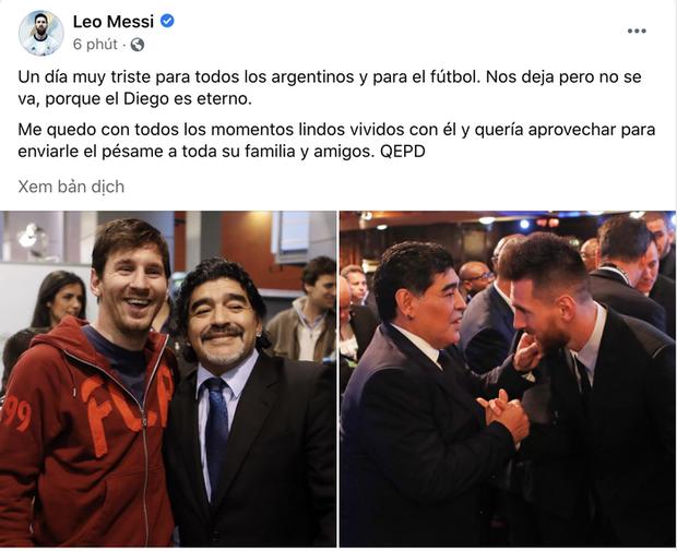 Các siêu sao thế giới tiếc thương huyền thoại Maradona: Vua bóng đá Pele hẹn chơi bóng cùng Cậu bé vàng trên thiên đàng - Ảnh 2.