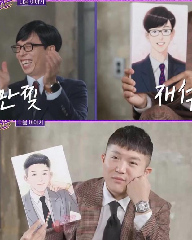 Yoo Jae Suk cười khoái chí khi được ngắm chính mình phiên bản truyện tranh đẹp hơn hoa - Ảnh 1.